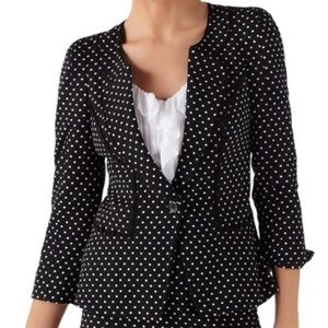White House Black Market Blazer Sz 0 Black Peplum